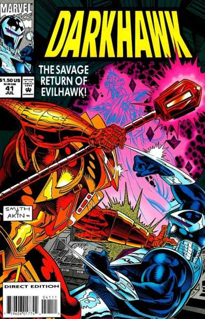 Darkhawk 41 - Battle - Superheroe - Costume - Smith Akin - Direct Edition