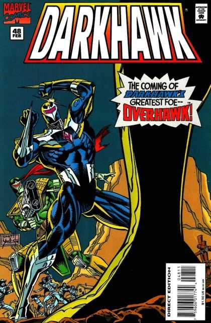 Darkhawk 48 - The Coming Of Darkhawks Greatest Foe Overhawk - Overhawk - Marvel Comics - Vol 1 48 - Writers Danny Fingeroth
