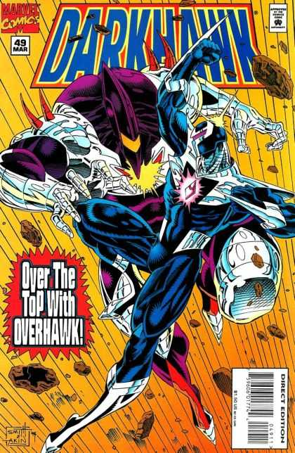Darkhawk 49 - Marvel Comics - Overhawk - Purple Gem - Rocks - Silver Hands