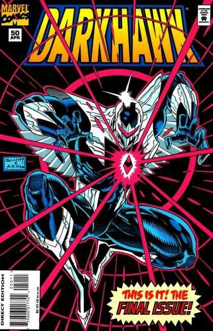 Darkhawk 50 - Diamond - Yellow Letter - Steel Shoe - Blue Man - Red