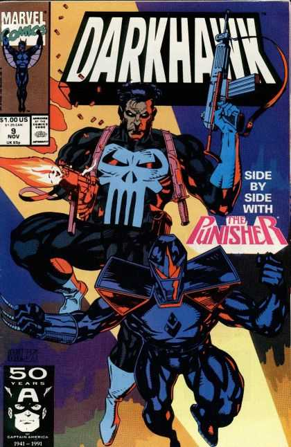 Darkhawk 9 - Marvel - Zombies - The Punisher - Guns - Blue - Mike Manley