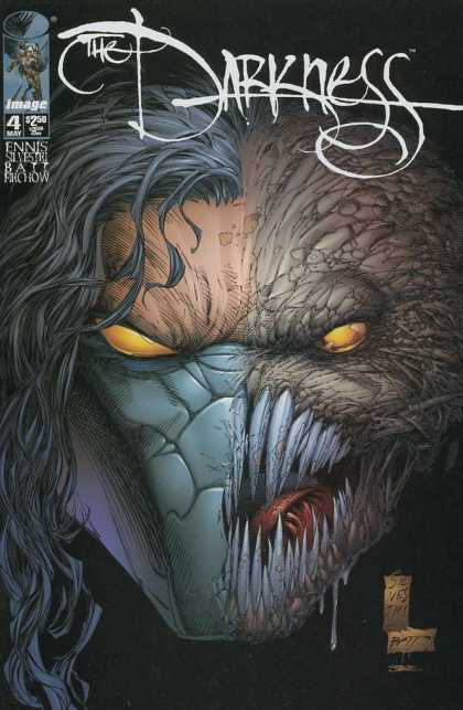 Darkness 4 - Creepy - Sharp Teeth - Monster Face - Black Hair - Two Face - Dale Keown, Marc Silvestri
