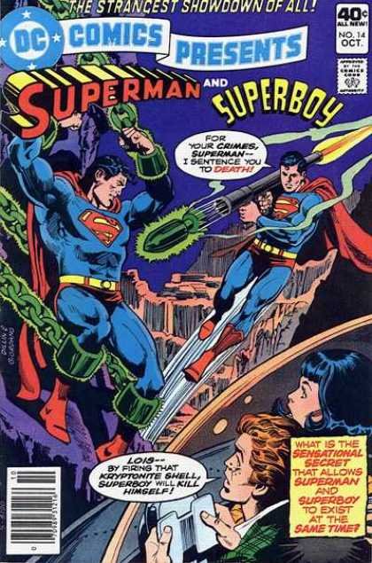DC Comics Presents 14 - Strangest Showdown Of All - Superman - Superboy - Superman And Superboy - Superboy Sentences Superman To Death - Dick Giordano