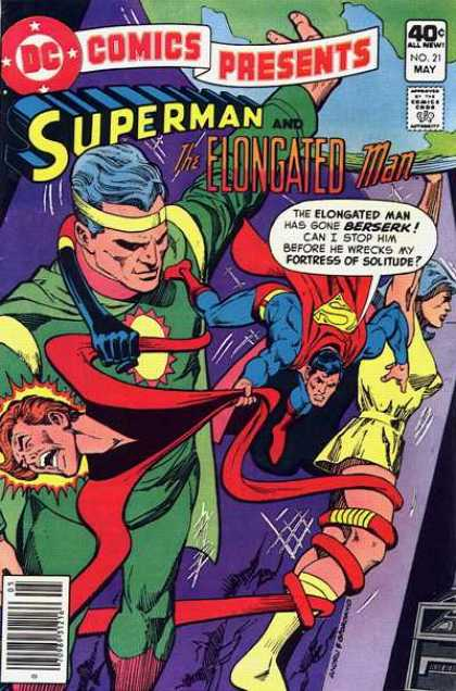 DC Comics Presents 21 - Superman - Elongated Man - Approved By Comics Code - Woman - Superhero - Dick Giordano, Ross Andru