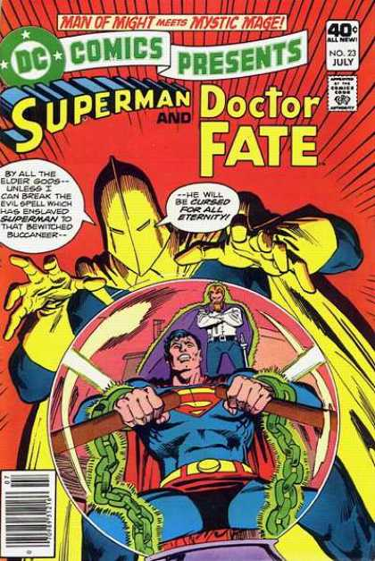 DC Comics Presents 23 - Superman - Doctor Fate - Chain - No 23 July - Yellow Gloves - Dick Giordano, Ross Andru