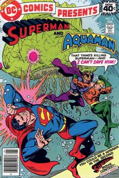 DC Comics Presents 5 - Superman - That Things Killing Superman - And I Cant Save Him - Superman Movie Contest - Green Blob - Aquaman - Dick Giordano, Ross Andru