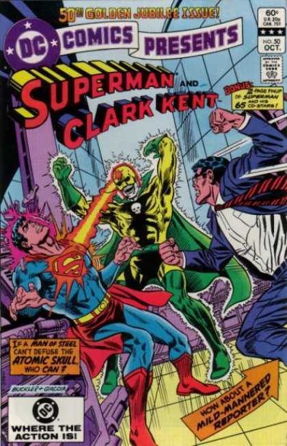 DC Comics Presents 50 - Superman - Clark Kent - Yellow-green Superhero - Fight - Wierd - Richard Buckler