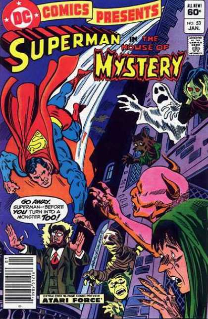 DC Comics Presents 53 - Superman - House Of Myster - Ghost - Ghoul - Zombie - Ross Andru