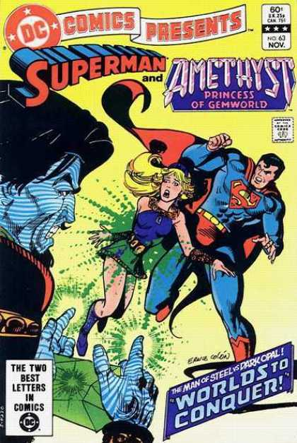 DC Comics Presents 63 - Dc Comics Presents - Amethyst - Princess Of Gemworld - The Man Of Steel - Worlds To Conquer