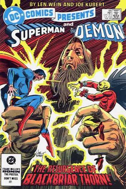 DC Comics Presents 66 - Superman - The Demon - Battle - Resurgence Of Blackbriar Thorn - Len Wein And Joe Kubert - Joe Kubert