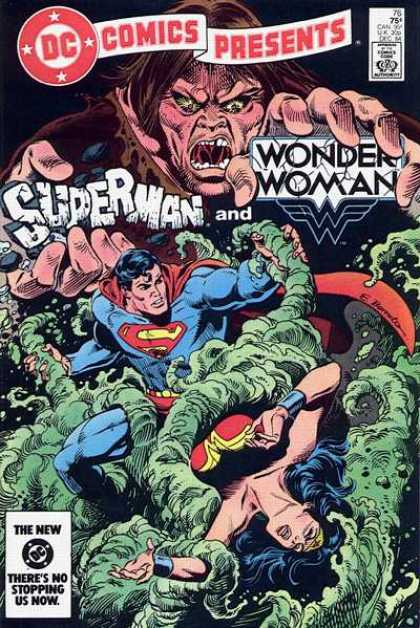 DC Comics Presents 76 - Superman - Wonder Woman - Green - Tendrils - Woman - Eduardo Barreto