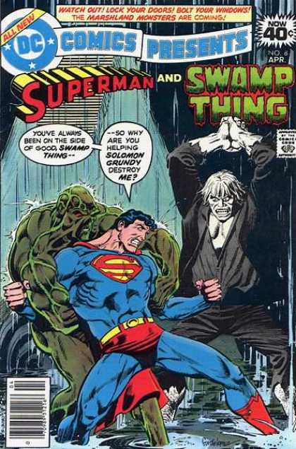 DC Comics Presents 8 - Superman - Swamp Thing - Solomon Grundy - Fighting - Swamp