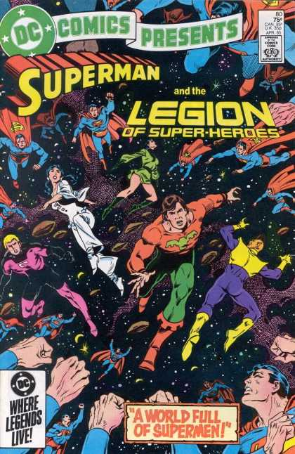 DC Comics Presents 80 - A World Full Of Supermen - Superman - The Legion Of Super-heroes - Where Legends Live - Red Cape - Eduardo Barreto