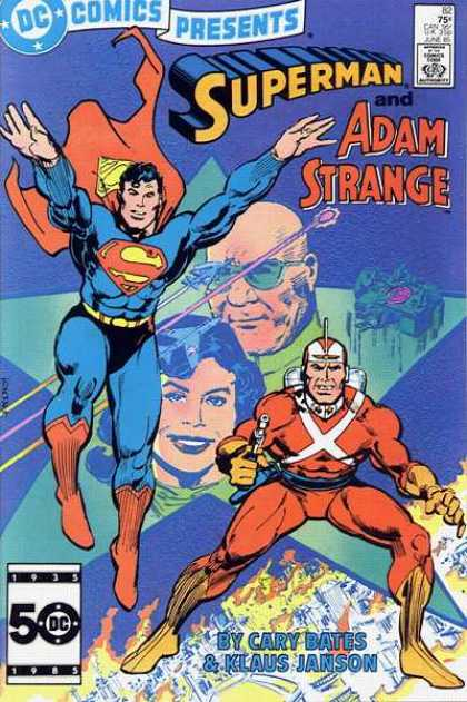 DC Comics Presents 82 - Superman And Adam Strange - Dc Comics - Cary Dates - 1935 - 1985 - Klaus Janson - Klaus Janson