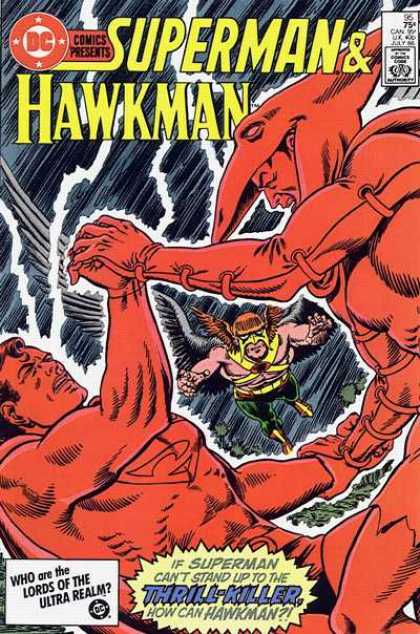 DC Comics Presents 95 - Super Man - Hawkman - Lords Of The Ultra Realm - Wings - Thrill-killer - Murphy Anderson