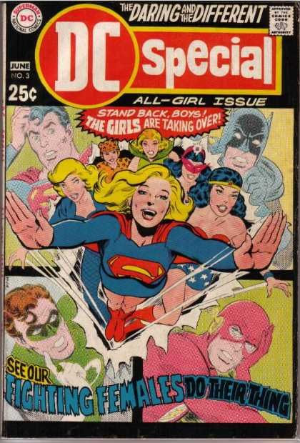 DC Special 3 - The Daring And The Different - All-girl Issue - Stand Backboys - The Girls Are Taking Over - See Our Fighting Females Do Their Thing - Nick Cardy
