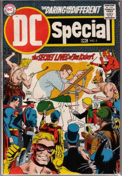 DC Special 5 - Joe Kubert - The Flash - Superman - Hawkman - The Daring And The Different - Joe Kubert