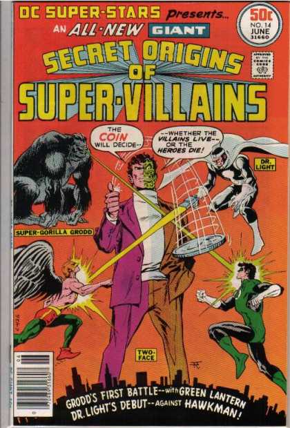 DC Super-Stars 14 - Coin - Super-gorilla Grodd - Dr Light - Two Face - Green Lantern