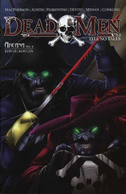 Dead Men Tell No Tales 4 - Skull - Crossbones - Sword - Blood - Purple Pimp Hat - Michael DeVito, Tim Seeley