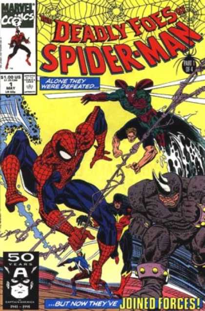 Deadly Foes of Spider-Man 1 - 50 Years - Part 1 Of 4 - Horned Head - Webs - Weapons