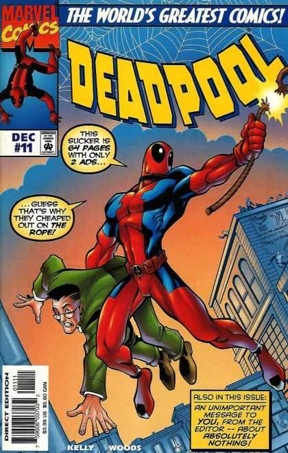 Deadpool 11 - Comic - Marvel - Spiderman - Worlds Greatest Comic - December