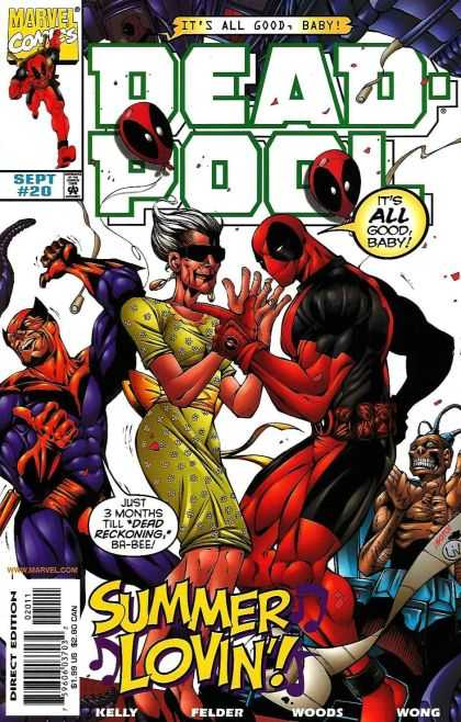 Deadpool 20 - Marvel Comics - Sept 20 - Its All Good Baby - Summer Lovin - Direct Edition