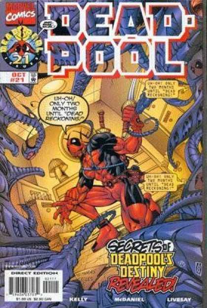 Deadpool 21 - Marvel Comics - Uh-oh Only Two Months Until Dead Reckoning - Secrets Of Deadpools Destiny Revealed - Kelly - Mcdaniel