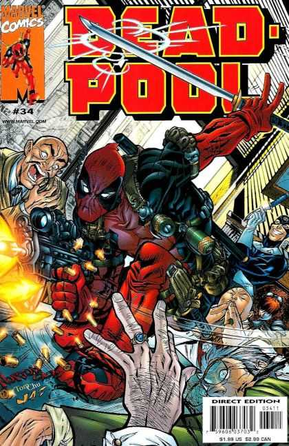 Deadpool 34 - Marvel Comics - Wwwmarvelcom - Sword - Direct Edition - 195 Us