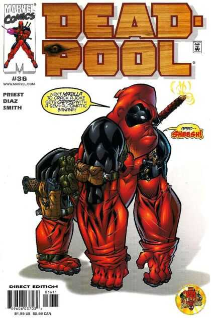 Deadpool 36 - Ape - Marvel Comics - Magilla - Gun - Gun Holder