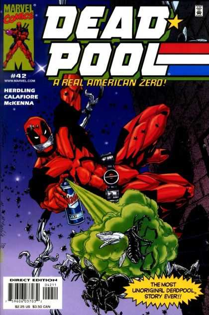 Deadpool 42 - Dead Pool - The Real American Zero - The Most Unoriginal Deadpool Story Ever - Bug Spray - Large Flies - Mark McKenna