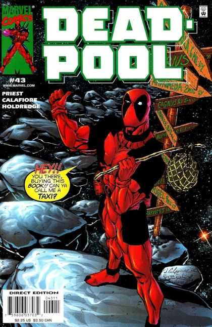 Deadpool 43 - Red Rocker - Without A Compass - Distructional Crossroads - Red Signs Wrong Way - Can I Get A Hot Dog With That