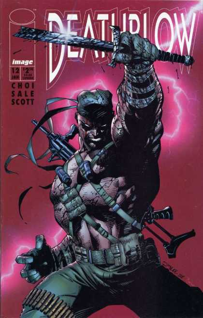 Deathblow 12 - Knife - Blood - Gun - Lightening - Muscles - Jim Lee