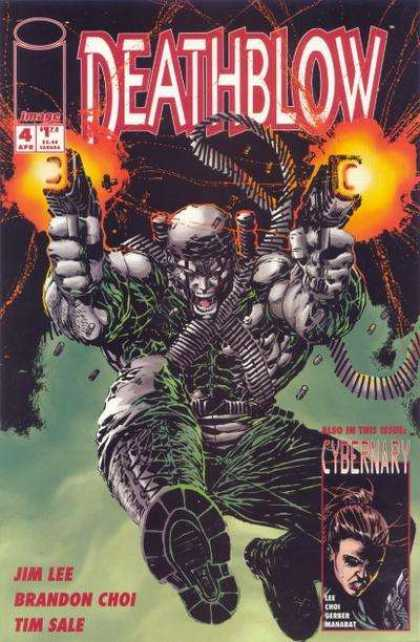 Deathblow 4 - Cybernary - Jim Lee - Brandon Choi - Tim Sale - Blazing Guns - Jim Lee