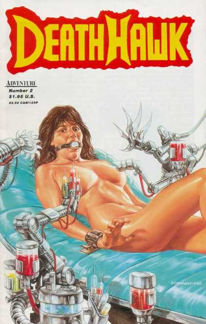 DeathHawk 2 - Naked Woman - Adventure - Shackled - Machines - Syringes