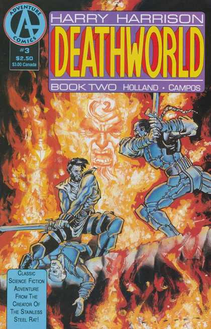 Deathworld 2 3 - Harry Harrison - Science Fiction - Adventure Comics - Fantasy - Fire