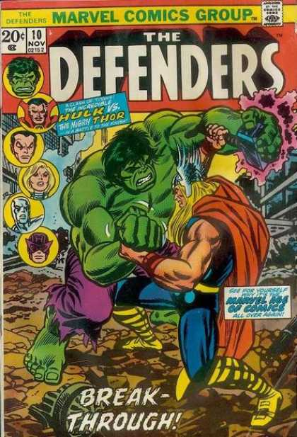 Defenders 10 - Thor - Hulk - Battle - Struggle - Fight - Erik Larsen