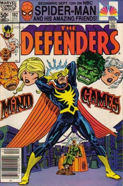 Defenders 102 - Spiderman - Marvel Comics Group - Mind Games - Approved By The Comics Code Authority - Beginning Sept 12th On Nbc