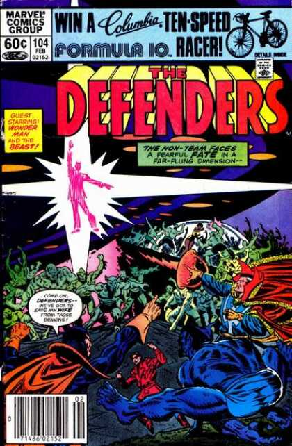 Defenders 104 - Wonderman - The Beast - No 104 - February - Non-team