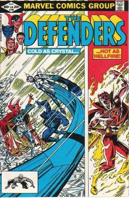 Defenders 105 - Marvel Comics - Defenders - Spiderman - Crystal - Hellfire