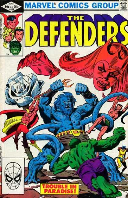 Defenders 108 - Hulk - White Rose - Trident - Tentacles - Trouble In Paradise