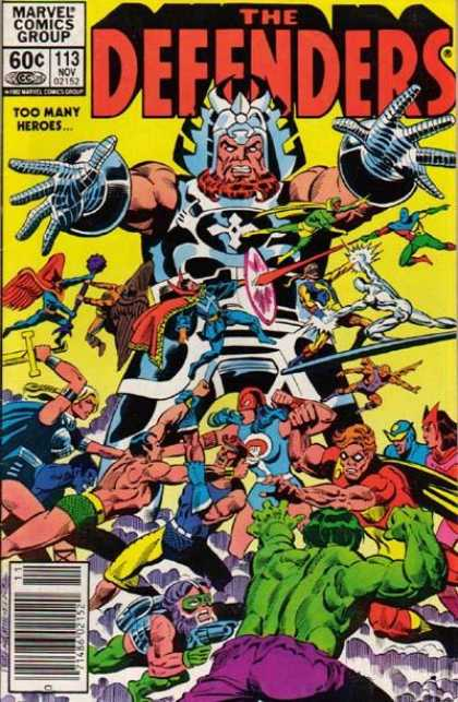 Defenders 113 - Marvel Comics Group - Silver Surfer - Too Many Heroes - The Incredible Hulk - Dr Strange