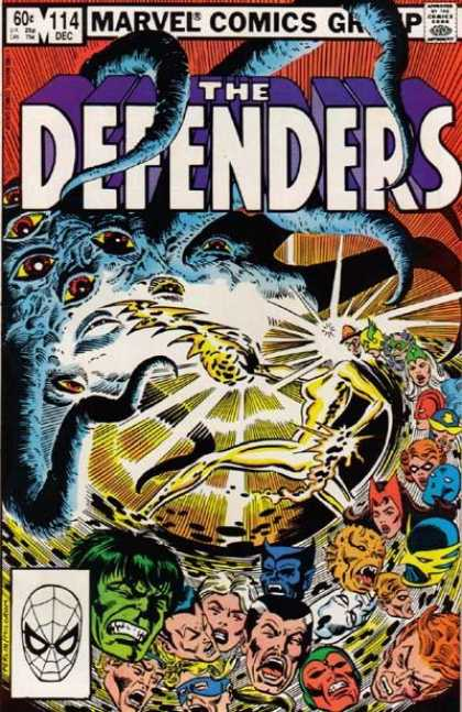 Defenders 114 - Marvel - Tentacles - Eyes - The Hulk - Silver Surfer