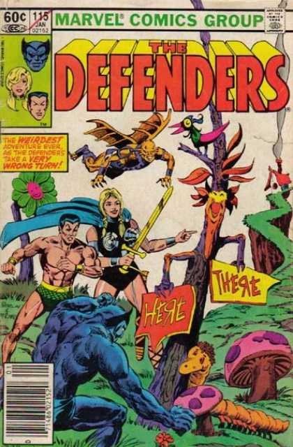 Defenders 115 - Beast - Sub-mariner - Valkyrie - Surreal - Weird