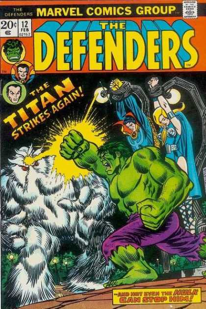 Defenders 12 - Titan - Strikes Again - The Hulk - Green Man - Marvel - Erik Larsen