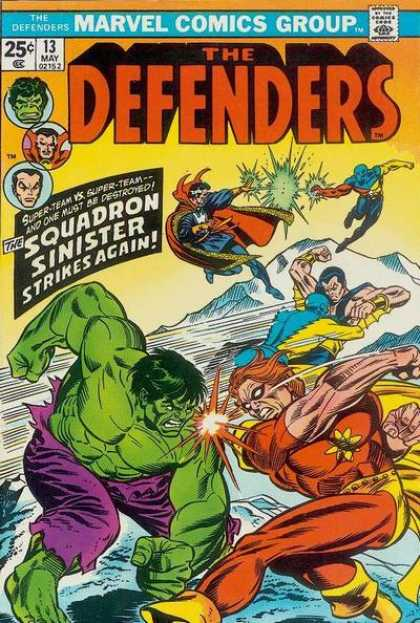 Defenders 13 - Superheroes - The Hulk - Squadron Sinister - Caped Crusadors - Super Strength