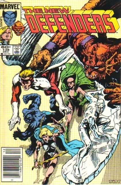 Defenders 138 - Marvel - Ice - Angel Wings - Bald Woman - Pigtails