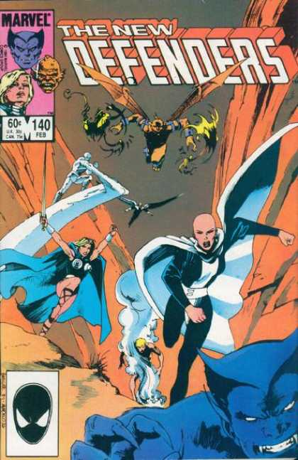 Defenders 140 - Superhero - Devil - Monsters - Fight - Run - Kevin Nowlan, Mark Badger