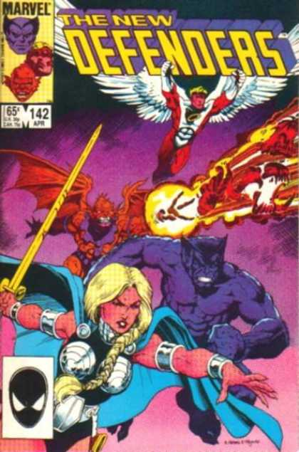Defenders 142 - Wings - Fire - No 142 - Marvel - Sword - Arthur Adams, Mike Mignola