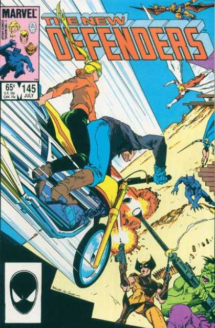 Defenders 145 - Marvel - Super Bike - Dragon - Gun - Bike Hero - Mark Badger, Terry Austin