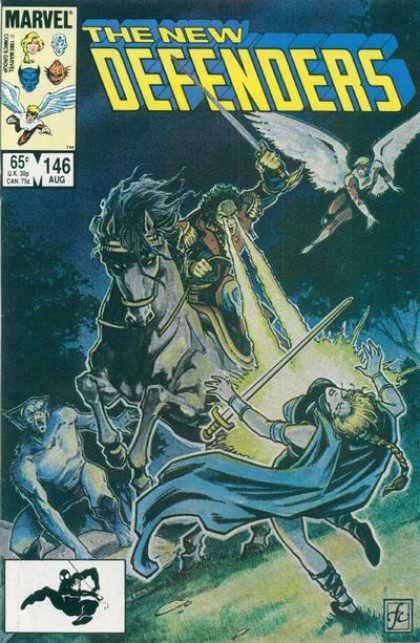 Defenders 146 - Trilogy - Sword Battle - Cosmic Powers - Knights Fighting - Flying Cosmic Angel